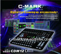 C-mark professional effect mixing console CDM12 with 20 scene settings