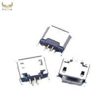 Micro usb vertical female solder connector,5pin female mini usb connector