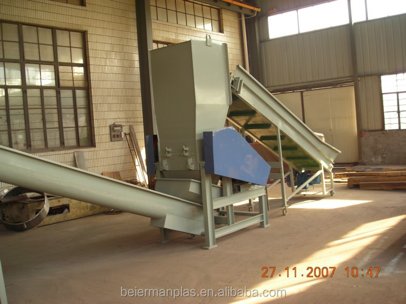Waste recycled plastic granules production line
