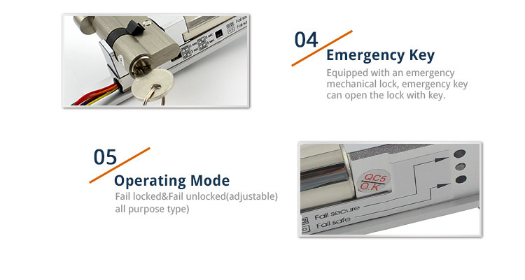 Patented Emergency Mechanical lock Design Sturdy And Durable Electric door bolt lock