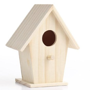 new products fairy garden displays Unfinished birdhouse wood