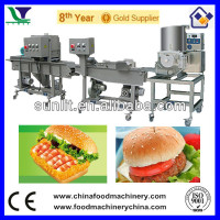 Automatic Halal Chicken Beef Fish Shrimp Burger Making Machine