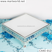 2017 New party&wedding Silver crystal metal cake stand wedding&crystal cake decoration,cake stand wedding decoration (CAKE-012)