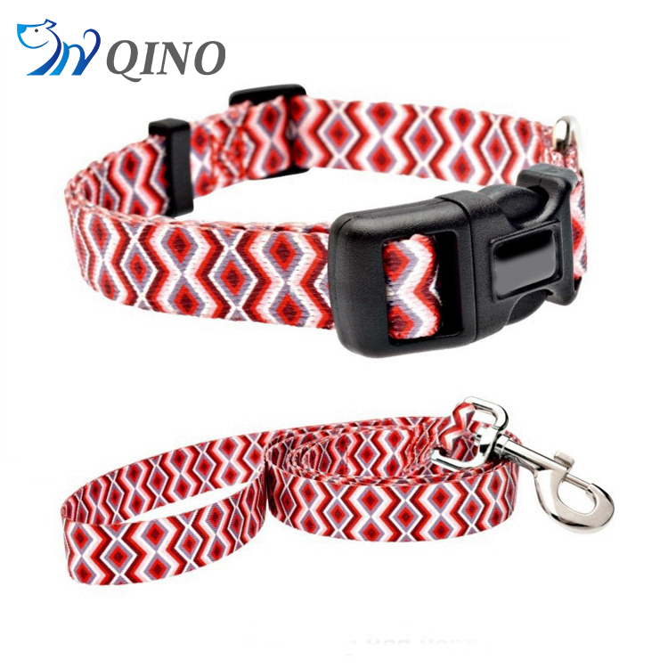 QN-A-2349 jacquard dog collars and leashes