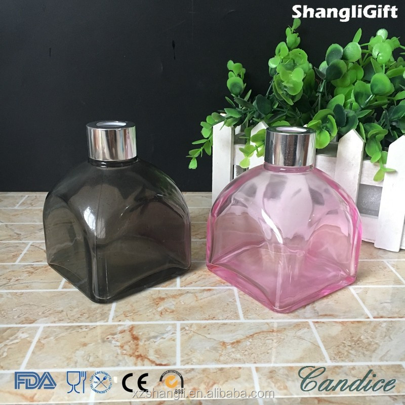 150ml Clear Square Parfume Glass Incense Aroma Reed Diffuser