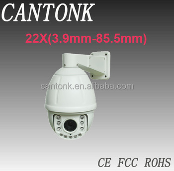 Analog 100m IR distance 22X Optical Zoom (f=3.9mm-85.5mm) High Speed Dome Camera