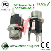 High Performance 2.5x5.5 Micro DC Power Jack DC026M Acer Aspire DC Power Jack Connector with RoHS Compliant