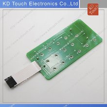 Metal dome PCB membrane keyboard switch with full cover ESD tail