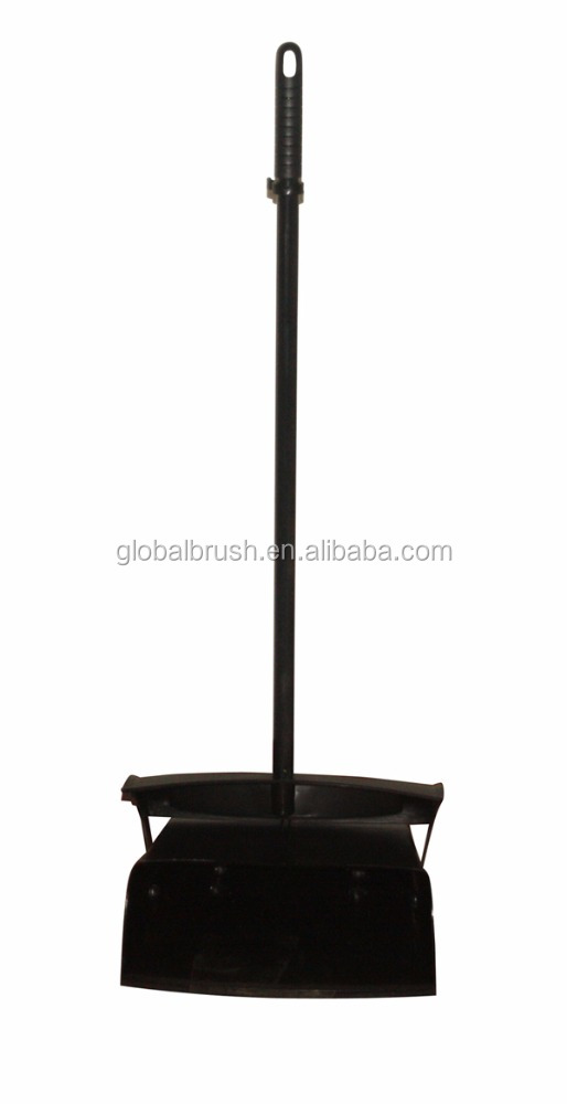 HQ7088 hotel cleaning plastic black color wind proof lobby dustpan