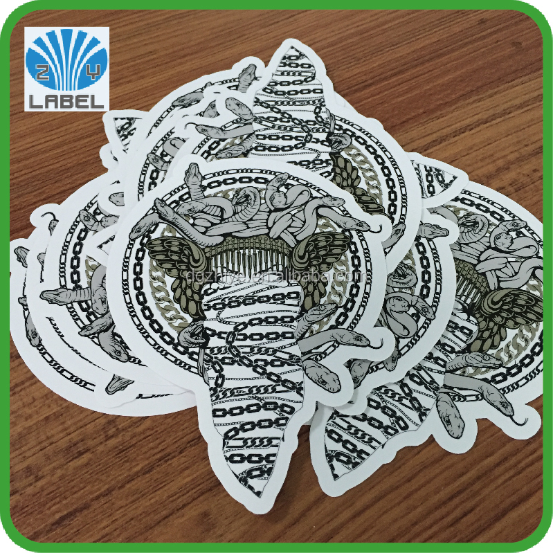 China waterproof personalised die cut synthetic paper decal custom print vinyl sticker for promotion