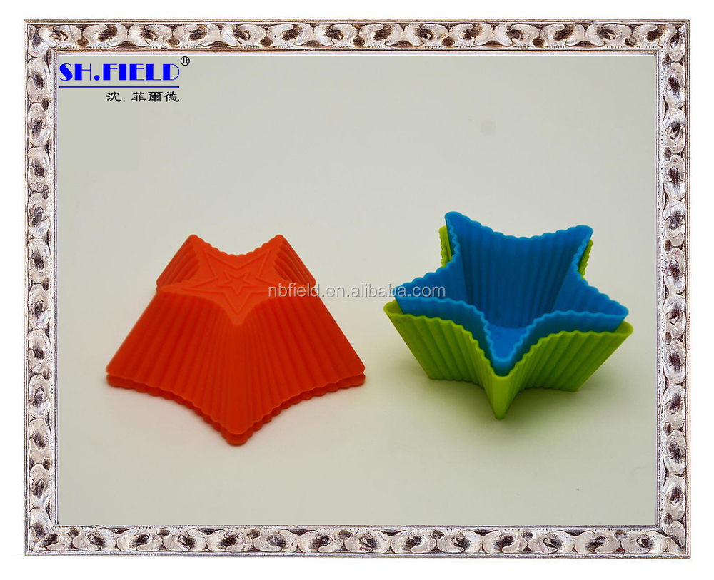 Hot sell Silicone muffin cups, Pentagram silicone muffin cup