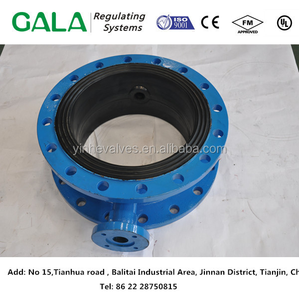 ISO9001custom fabrication butterfly valve body heat resistant ggg25 cast iron