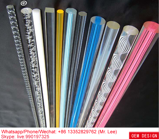 Customized size plastic acrylic thread color rods