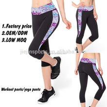 Fitness wears manufacture long tight fit compression pants for women