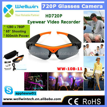 HD720P Eyewear Video Recorder Fashion Sunglasses Camera WW-108-11