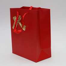 favorable price gift packaging shopping bag with bow tie design