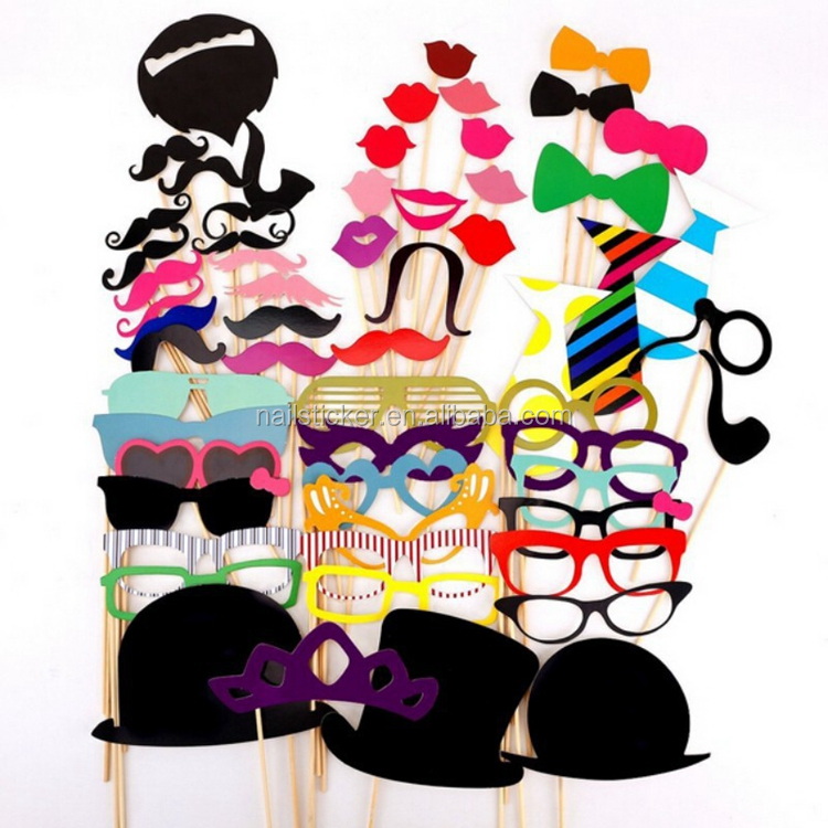 funny creative hat moustache lip decoration party photo booth props