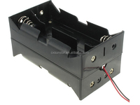 9v D cell battery holder for 8 batteries with 6'' wire leads