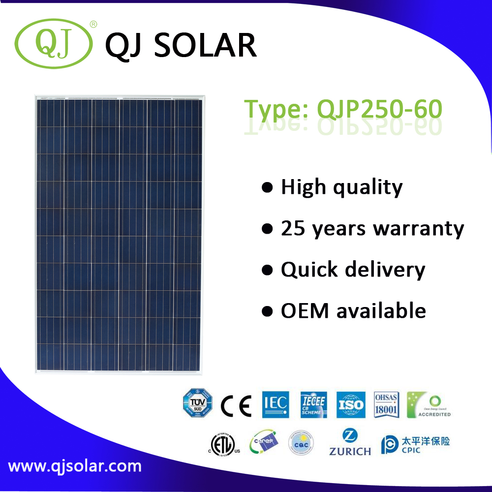High Efficiency Poly Solar Panel Modern Design Best Price 250W PV Solar Modules