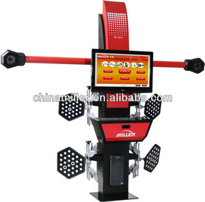 MILLER garage computerized economic 3d wheel alignment machine and balancing machine for sale,wooden package(CE approved)