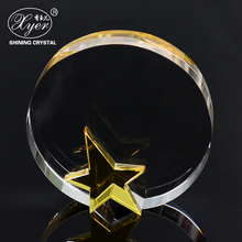 Unique design crystal wedding favors gifts crystal 3d laser cube for guest trophy with star custom photo
