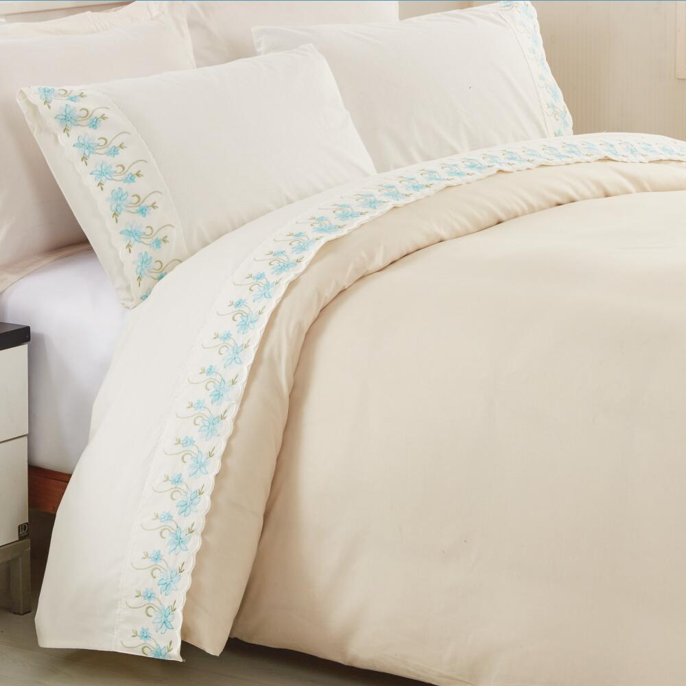 KOSMOS bedding set polycotton hand embroidery designs for bed sheets