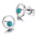 Globalwin fashion silver jewelry simple silver stud earrings designs for ladies