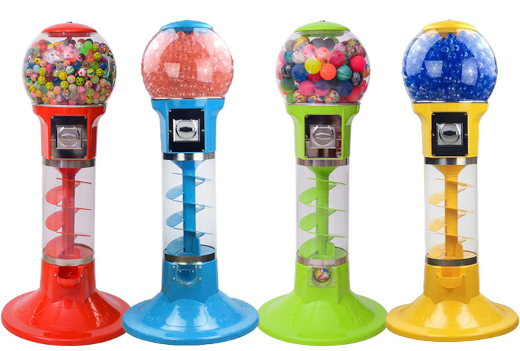 Sprial Vending Machine Capsule Toys Bouncy Balls Candy Dispenser