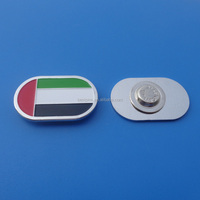 oval metal soft enamel flag color metal collar badge