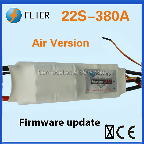 New version speed controller brushless 22S and 380A ESC for RC airplane