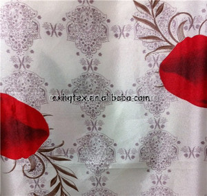 100 polyester satin fabric with good hand feeling