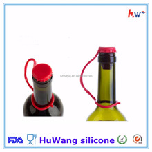 Food grade silicone wine bottle caps with handle