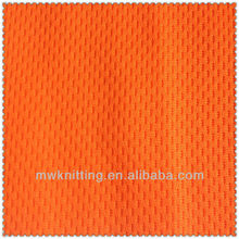 neon orange Mesh cool dry shirts mesh fabric for clothing and safe vest