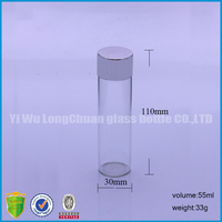 55ml clear pepper bath salt glass bottle with metal lid
