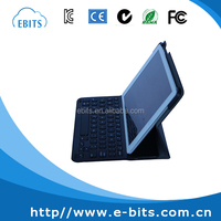 Foldable leather cover tablet stand bluetooth keyboard for ipad 5