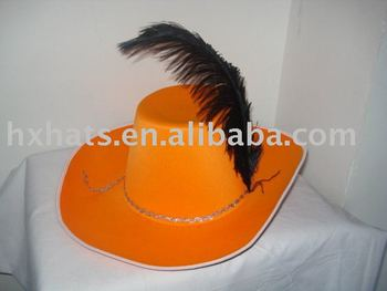 orange musketeer hats