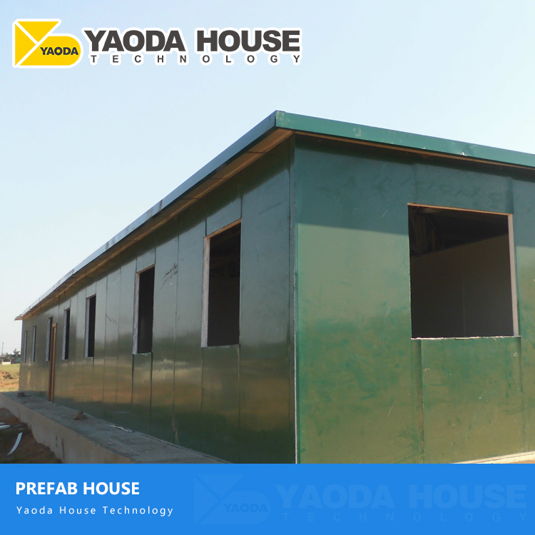 Luxury Modern Flat Roof Home Depot Prefab Temporary Ready Made Quick Build Labour Camp Steel Structure Prefabricated House
