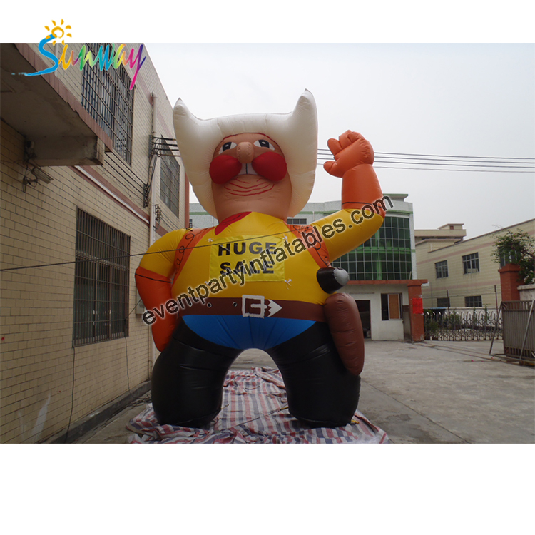 Sunway Great Design Event Party Giant Inflatable Cowboy Cartoon Models For Advertising