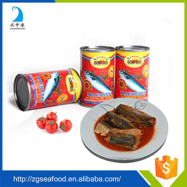Chinese Canned Jack Mackerel Tin Fish In Tomato Sauce