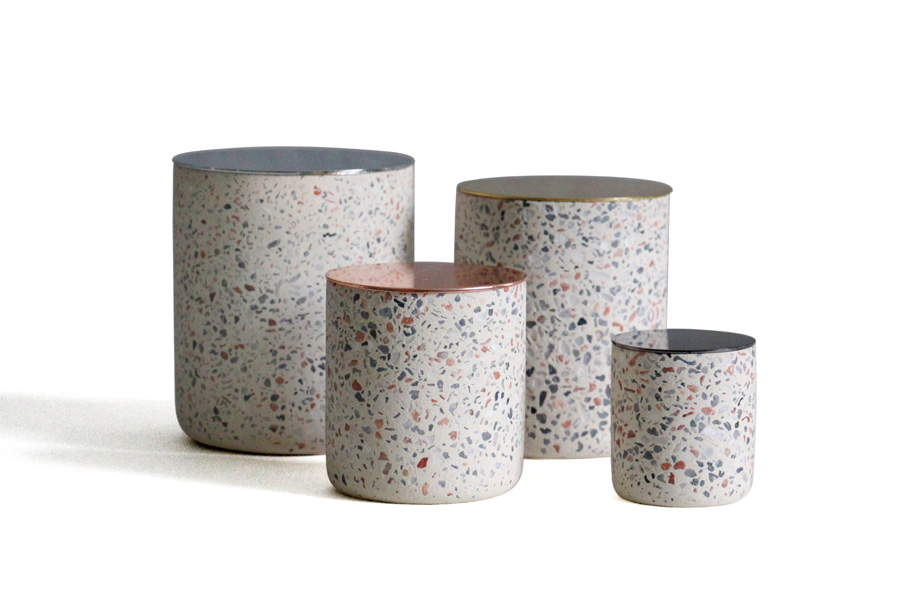 Terrazzo Candle Jar/Holder/Container with Lid