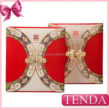 Popular Chinese style wedding cards greeting card