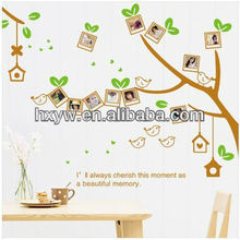 Photo frame wall sticker with removable adhesive