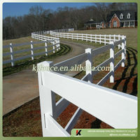 Beautiful designed plastic post and rail PVC farm fence