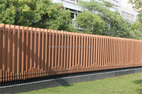 FRSTECH composite wood slats aluminium slats for venetian blindslink fence decorative wood slats