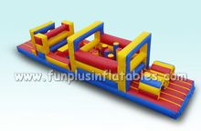 Quality obstacle course equipment/cheap price inflatable giant obstacle course F5017