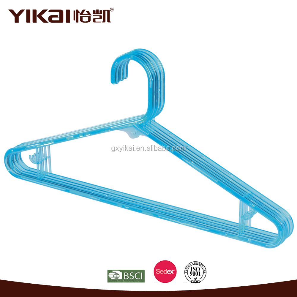 Yikai Brand Hot Sale Beautiful Color Cheap Plastic Clothes Hanger Wholesale
