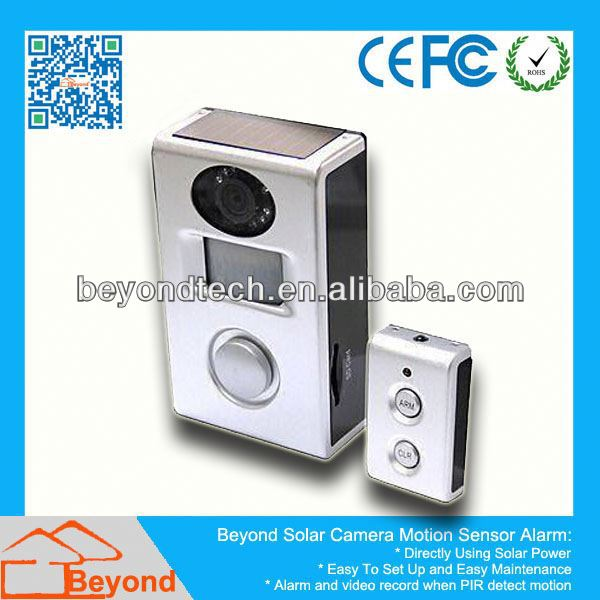 Camara Security System Solar Camera <strong>Alarm</strong> With Video Record and Solar Panel