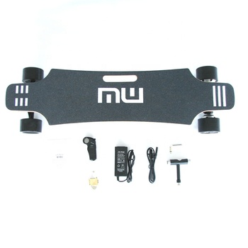 wholesale fast automatic 90mm wheels off road dual motor  maple wood complete surfboard electrique longboard electrico