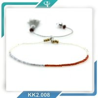 2016 power beads gold jewelry, health seed bead bracelet for girl
