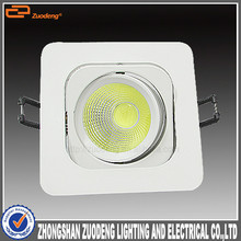 Warm white and cold white residential spotlight 50mm cutout 9watt ac cob led down light